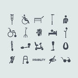 Set of disabled icons Royalty Free Stock Image