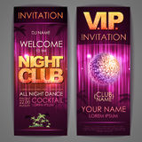 Set of disco background banners. Night club Stock Photo