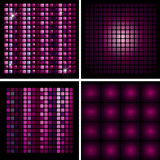 Set of Disco-ball patterns Royalty Free Stock Images