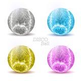 Set of disco ballls. Royalty Free Stock Photos