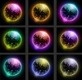 Set of Disco balls. Stock Photo