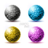 Set of disco balls. Stock Image