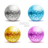 Set of disco balls. Royalty Free Stock Photo