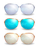 Set of disco glasses Stock Photography