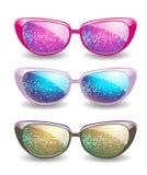 Set of disco glasses Royalty Free Stock Photos