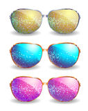 Set of disco glasses Royalty Free Stock Photography