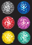 Set of discoballs Royalty Free Stock Photography