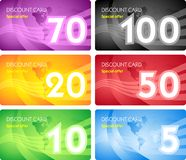 Set of discount card templates Royalty Free Stock Images
