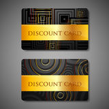 Set of discount cards Royalty Free Stock Photos