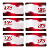 Set of discount cards isolated over white Royalty Free Stock Photo