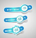 Set of discount elements Stock Photos