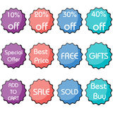 Set of discount icon Stock Image