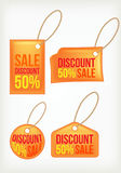 Set discount labels Stock Photography