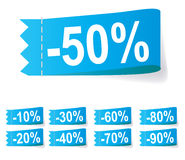 Set of discount labels. Vector Royalty Free Stock Image