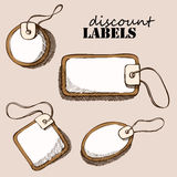 Set of discount labels Stock Images