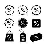 Set of Discount, percentage icon symbol. Vector illustration. Isolated on white background.  royalty free illustration