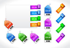 Set of discount sale badges Royalty Free Stock Image