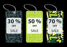 Set of Discount Sale Tags Royalty Free Stock Photography