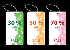 Set of Discount Sale Tags Stock Images