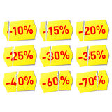 Set of discount stickers. Vector illustration of set of discount stickers Stock Photos