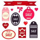 Set of discount stickers and labels stock illustration