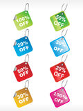 Set of  discount tag Royalty Free Stock Images