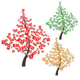 Set of discount trees. For business vector illustration