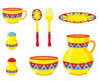 Set of dishes vector illustration