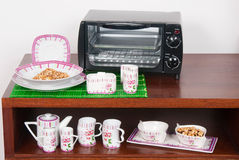 Set of dishes with oven Royalty Free Stock Photo