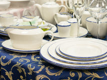 Set of dishes on table Royalty Free Stock Photos