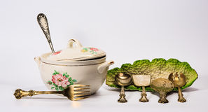 Set of dishware and utensil Royalty Free Stock Photography