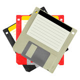 Set of diskettes Stock Image