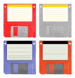 Set of 4 diskettes Stock Photo