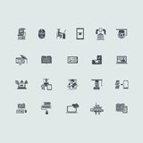 Set of distance learning icons. Distance learning vector set of modern simple icons Stock Image