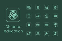 Set of distance learning simple icons. It is a set of distance learning simple web icons Stock Photography