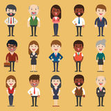 Set of diverse business people. Different and dress styles. Royalty Free Stock Image