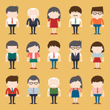 Set of diverse business people. Different and dress styles. Stock Photo