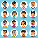 Set of diverse business people round avatars Royalty Free Stock Photos