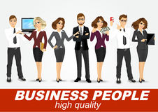 Set of diverse business people. On white background Royalty Free Stock Image