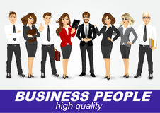 Set of diverse business people. On white background Royalty Free Stock Images