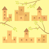 Set of diverse homes for birds Royalty Free Stock Photography