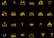 Set of diverse icons Stock Photography