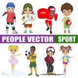Set of diverse kids. vector illustration