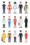 Set of Diverse Occupation and Profession People Characters royalty free illustration