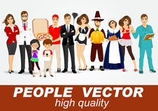 Set of diverse people characters Stock Photo