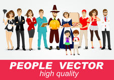 Set of diverse people characters Stock Image