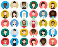 Set of diverse round avatars Royalty Free Stock Photo