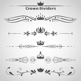 Set of dividers Royalty Free Stock Image