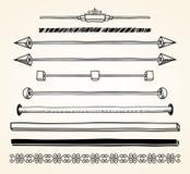 Set dividers, ręka rysująca ilustracji