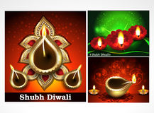 SET OF DIWALI DEEPAK Royalty Free Stock Image